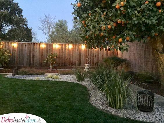 Garten gestalten mit Kies