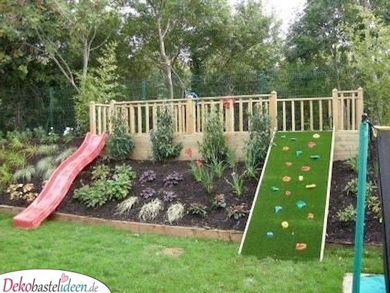 Ein Spielplatz für die Kinder - Garten gestalten