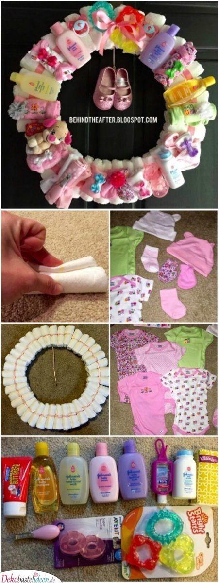 Windeltürkranz - Baby Shower Geschenke
