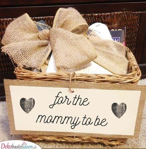 Geschenkkörbchen für die werdende Mutter