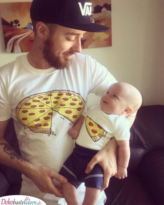 Shirts im Partnerlook für Papa und Baby - personalisierte Babygeschenke