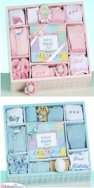 Geschenkekiste - Baby Shower Geschenke