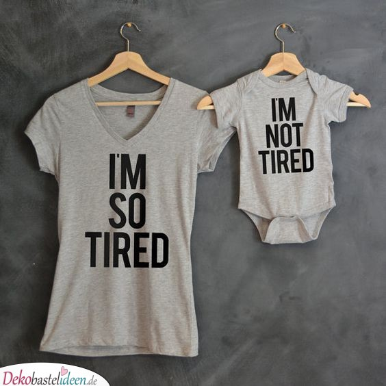 T-Shirts for Mom and Baby in Partner Look - Gifts for Babies