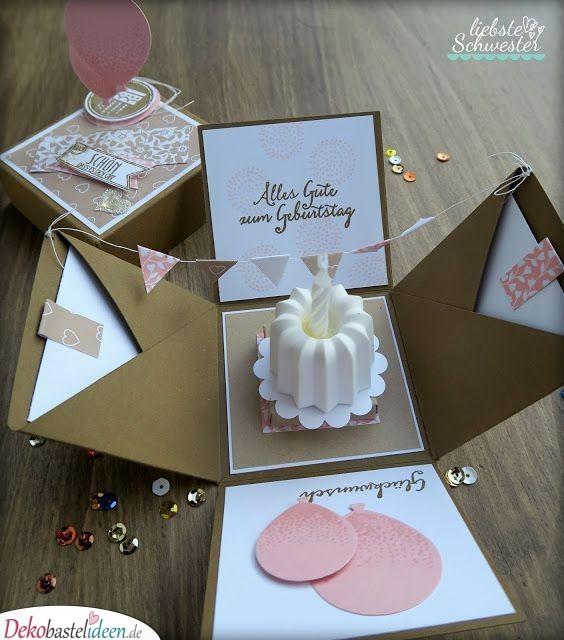 Geschenke zum 18. Geburtstag – Aufklappbare Geschenkeschachtel