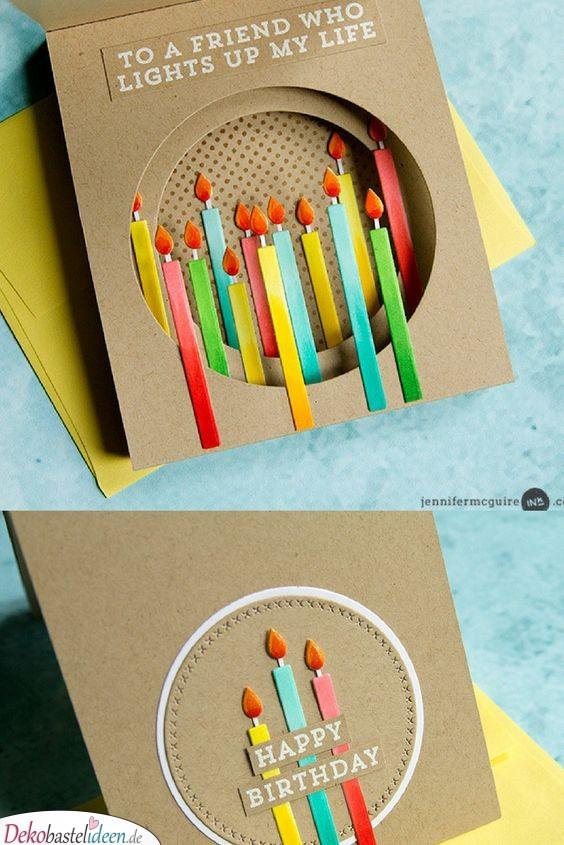 Für eine Freundin, die Licht in mein Leben bringt – Geburtstagskarte basteln