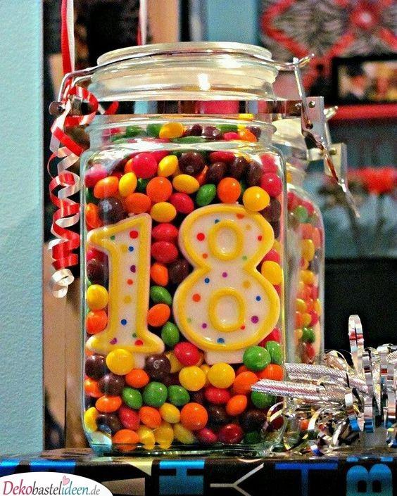 Geschenke für 18-Jährige – Süßigkeitenglas