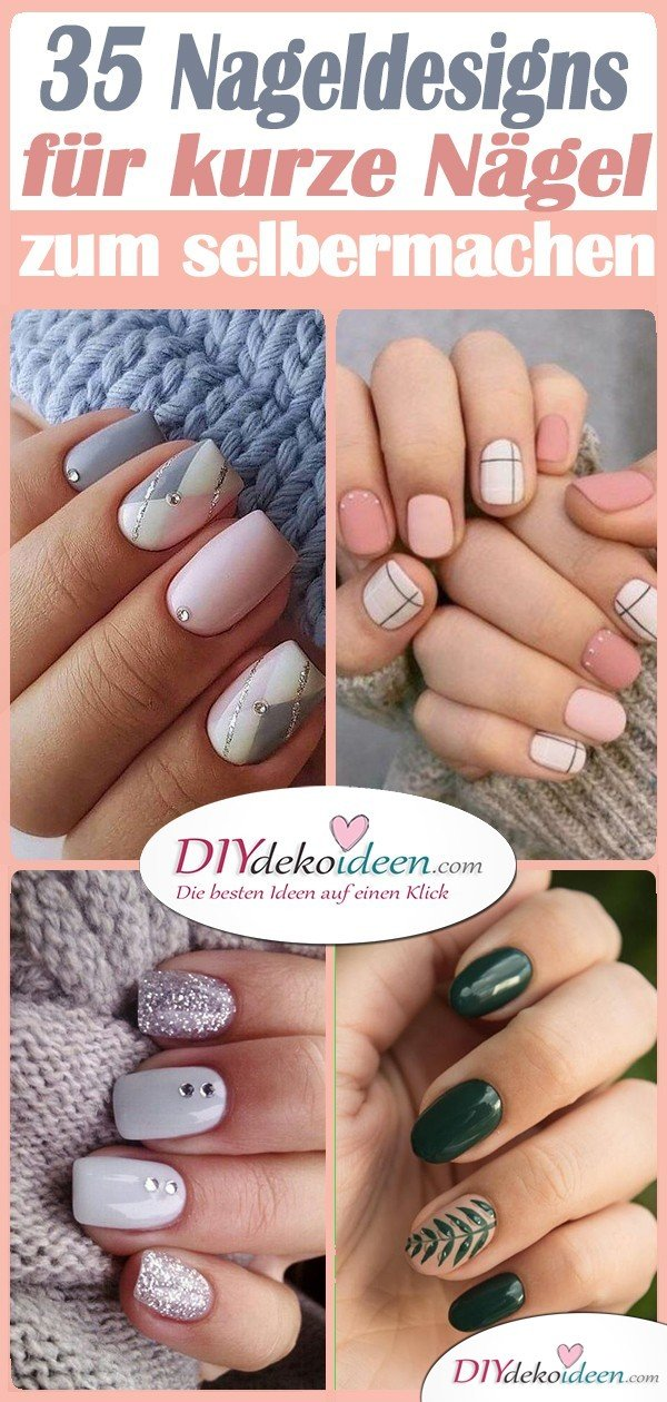35 Nail Design for Short Nail Ideas - Very Light Short Nail Art