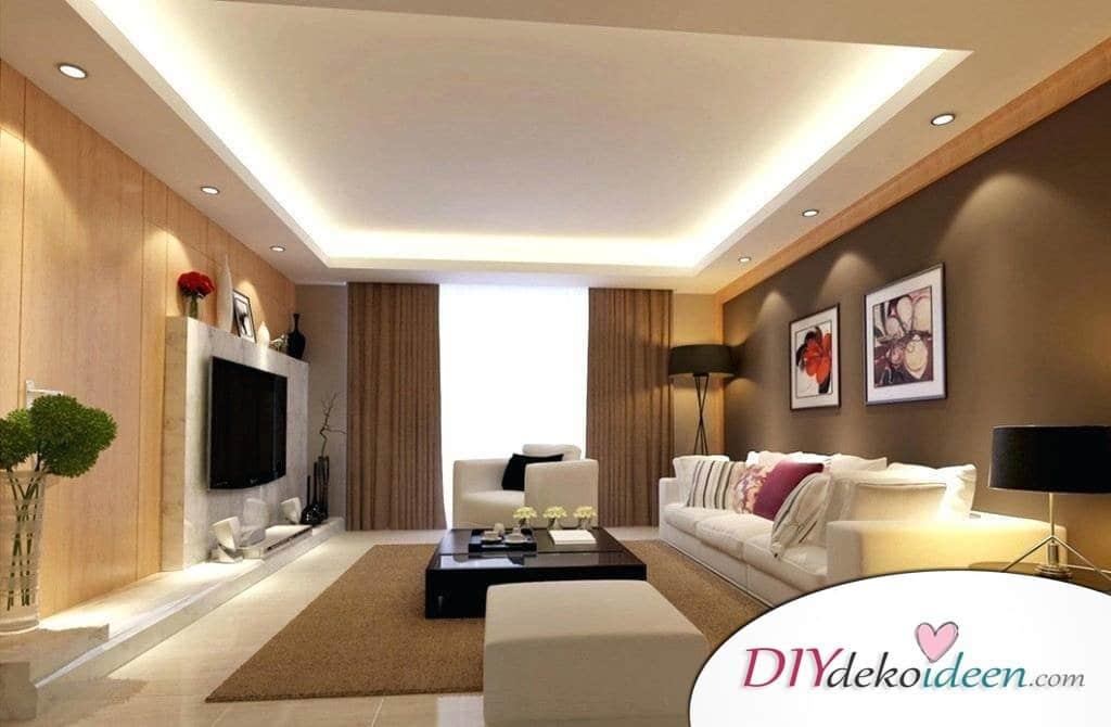 20 Wohnzimmer Lichtideen - So beleuchtet ihr euer Wohnzimmer ...