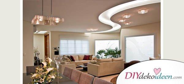 Deckenleuchten und schicke Lichtquellen fürs Wohnzimmer