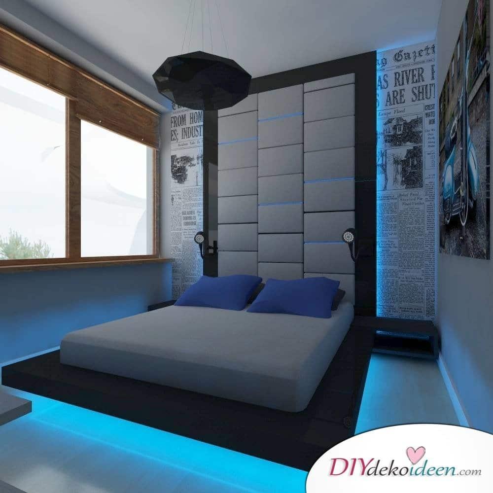Raffinierte Beleuchtung fürs Schlafzimmer