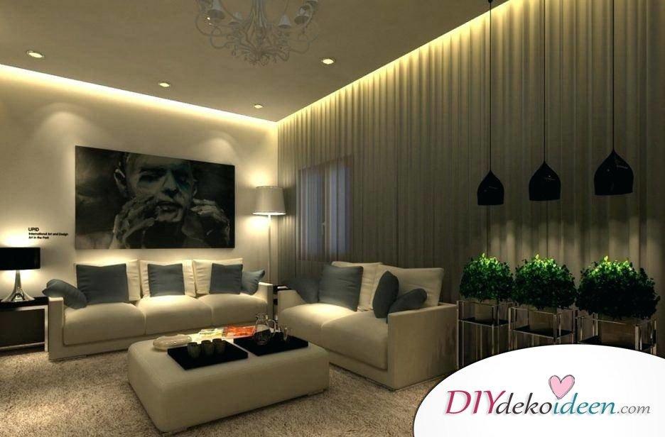 Kreative Wandbeleuchtung fürs Wohnzimmer