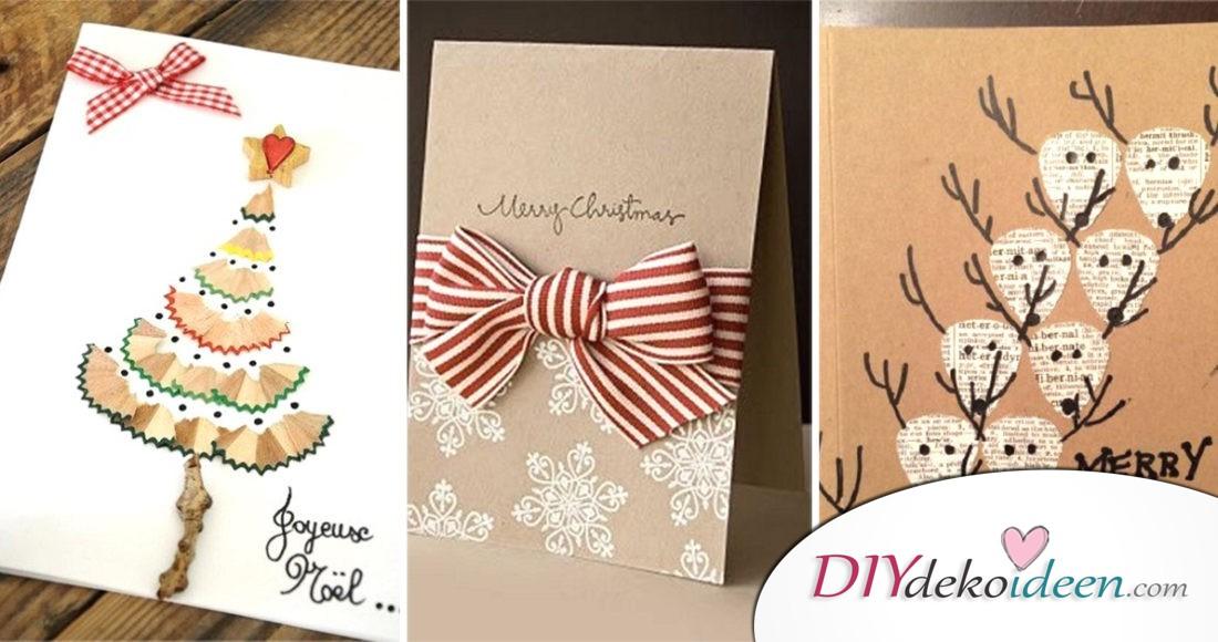 kreative weihnachtskarten basteln diydekoideen diy. Black Bedroom Furniture Sets. Home Design Ideas