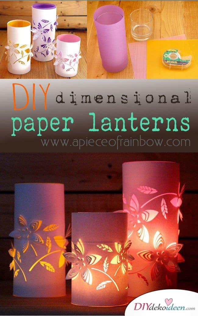 3-dimensionale-Papierlaternen
