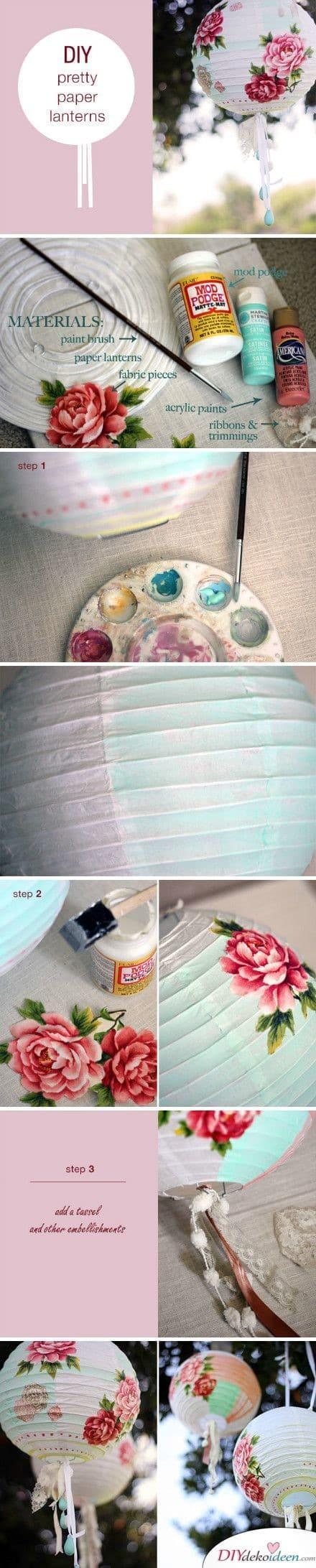 Schöne DIY Papierlaternen