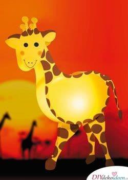 Giraffenlaterne - kinderleichte Laternen basteln