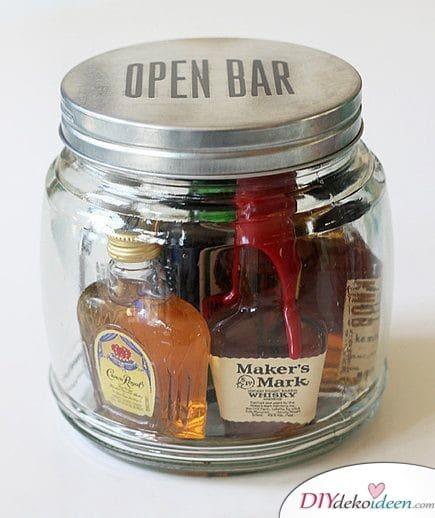 Bar im Einmachglas - Geschenk selber machen