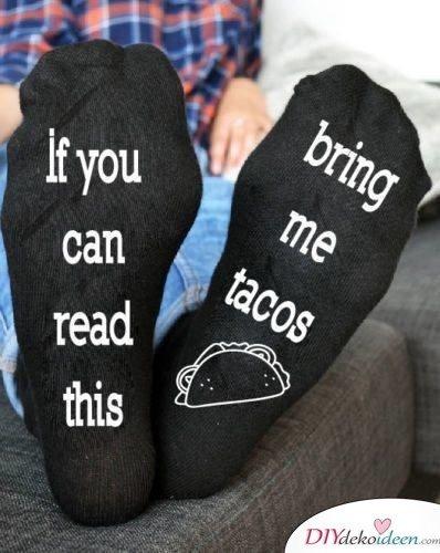 Bedruckte Socken - Geschenkidee