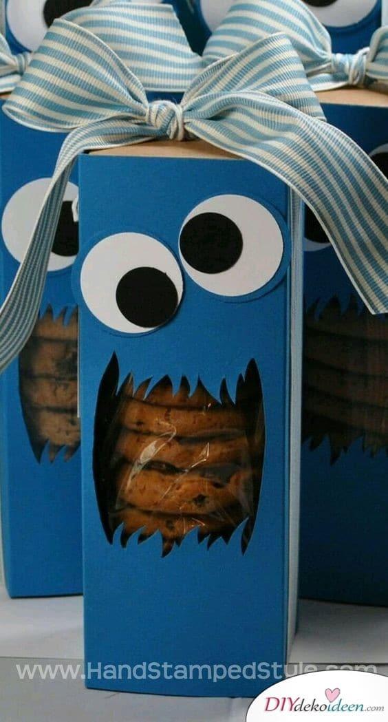 Krümelmonster Keksverpackung für den Kindergeburtstag