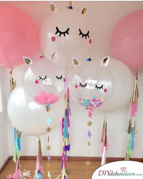 Einhornballons – Partydeko