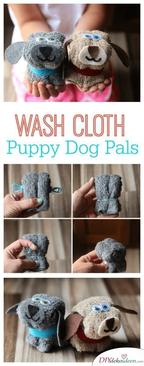 Hundewaschlappen - kleine Geschenke für Kinder