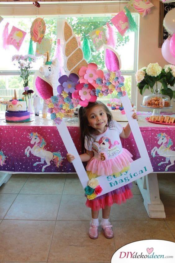 Einhornfotorahmen – Geburtstagsgeschenk für Mädchen