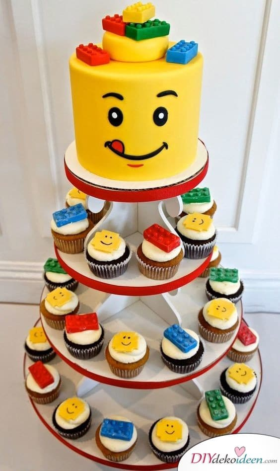 Lego-Cupcakes – Kinderparty Ideen