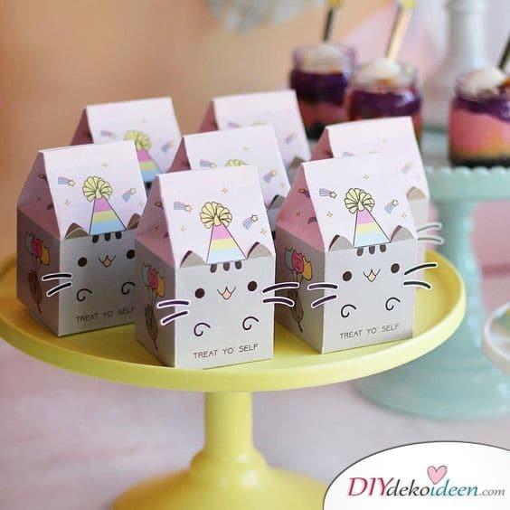 Keksdosen mit Katzenmotiv - kleine Geschenke für Kinder