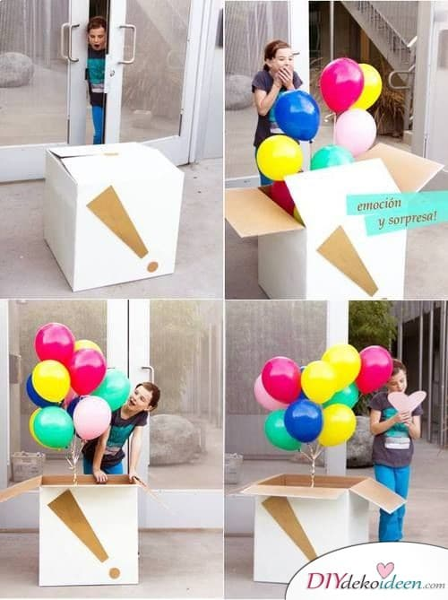 Ein Karton voller Luftballons – Eine Geburtstagsüberraschung