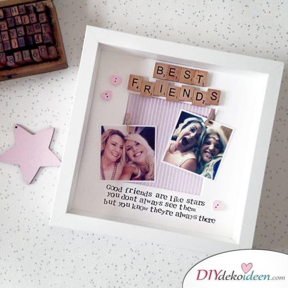 Geschenk für beste Freundin – ein Fotorahmen