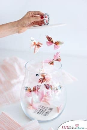 A glass full of butterflies - gifts for the best friend