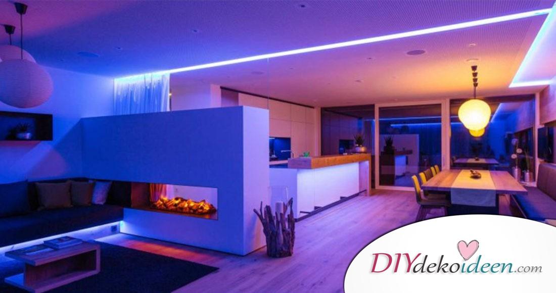 Beleuchtung Wohnzimmer Holzdecke