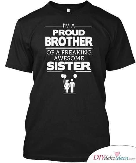 Bedrucktes T-Shirt – Geschenkidee für Geschwister