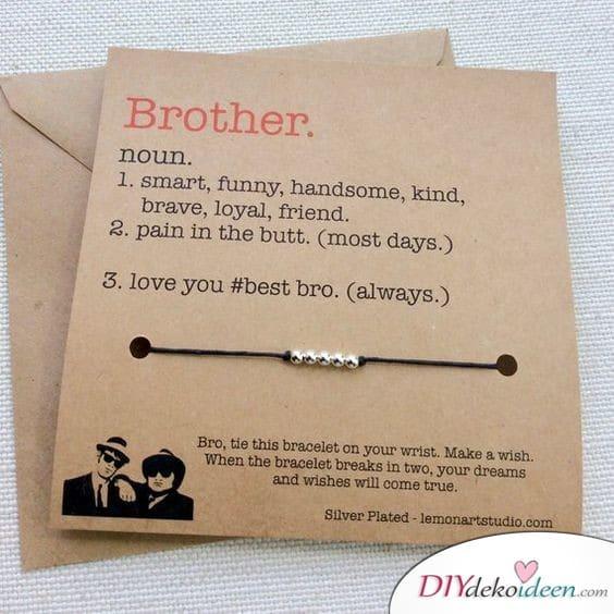 Wunscharmband für den Bruder