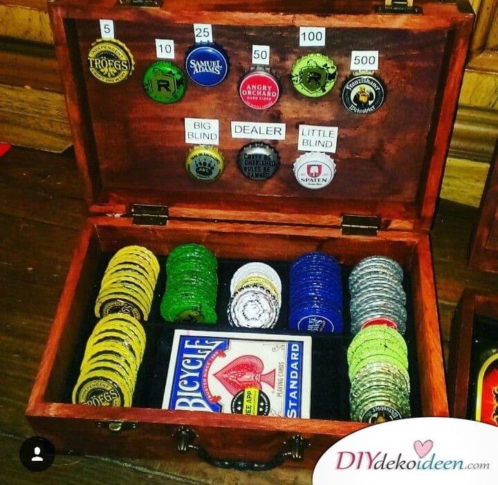 Geschenk für den großen Bruder – Pokerspiel mit Kronkorken
