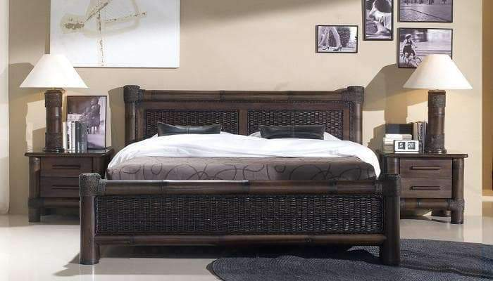 Kolonial Bett TROPICANA Negra - Exotischerleben