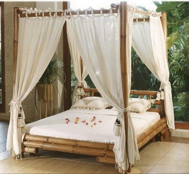 Outdoor bamboo bed