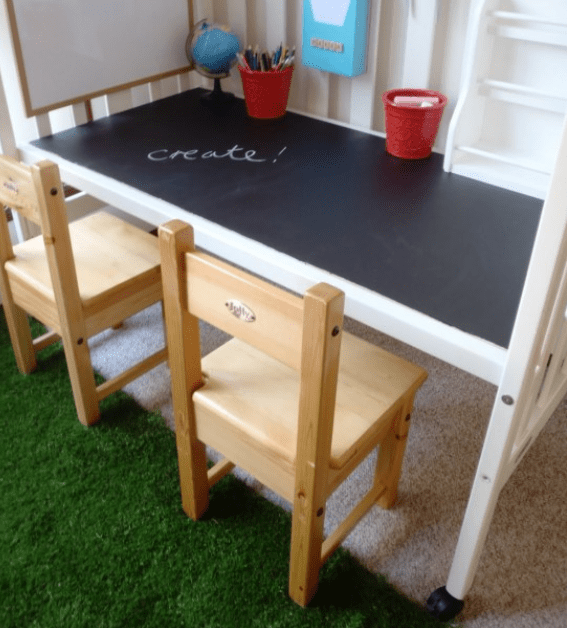 15 Ideen für den DIY Schreibtisch - Die Tafel