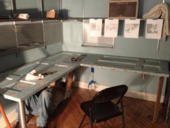 15 Ideen für den DIY Schreibtisch - Die Tür im Eck