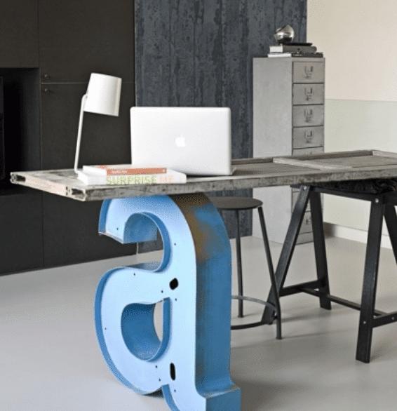 15 Ideen für den DIY Schreibtisch - Kreative Beine