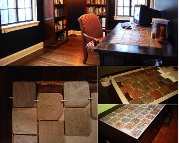 15 Ideen für den DIY Schreibtisch - Holz und Stein