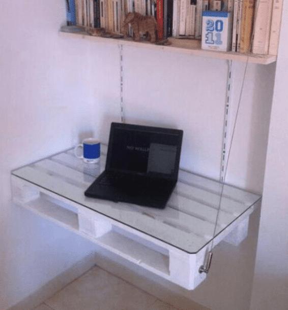 15 Ideen für den DIY Schreibtisch - DIY Hängeschreibtisch