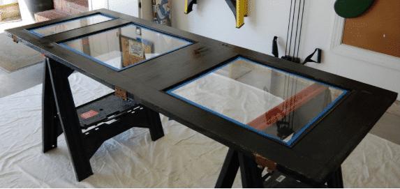 15 Ideen für den DIY Schreibtisch - Schreibtisch mit Glasboden