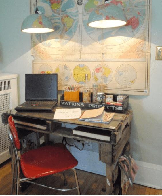 15 Ideen für den DIY Schreibtisch - Palettenweise
