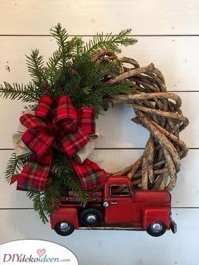Den Baum mit nach Hause nehmen - Weihnachtskranz selber machen