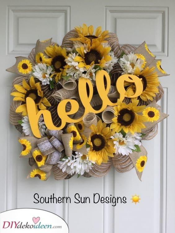 Hallo Sommer - und hallo Sonnenblumen