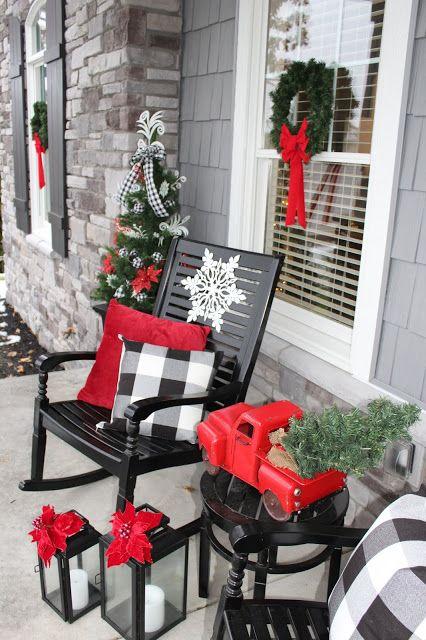 Eine Winterveranda - Weihnachtsdeko für Draußen