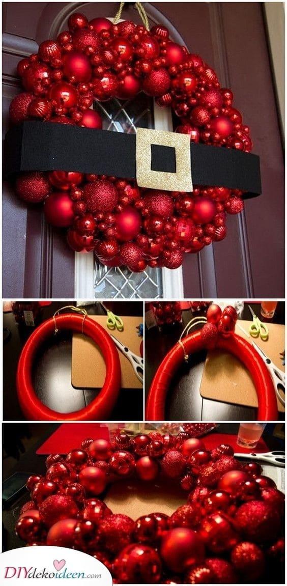 Weihnachtsmannanzug - Tolle Türdekoration für Weihnachten
