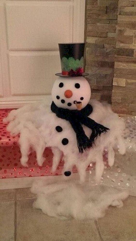 Ein schmelzender Schneemann - lustig und kreativ