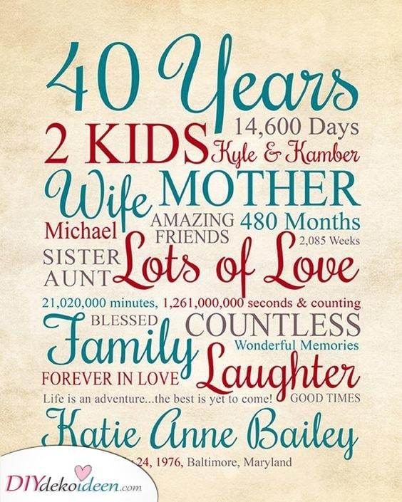 40 Jahre - was sie ergeben
