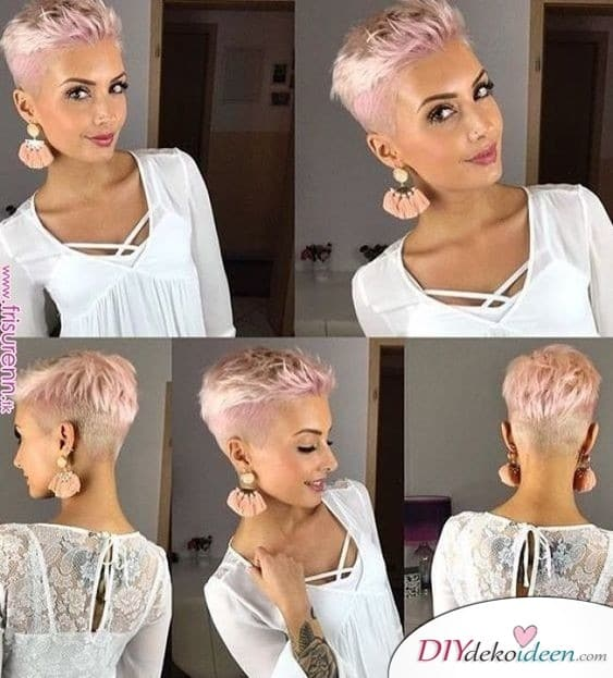 Super kurz und Pink – Sommerfrisuren für kurze Haare